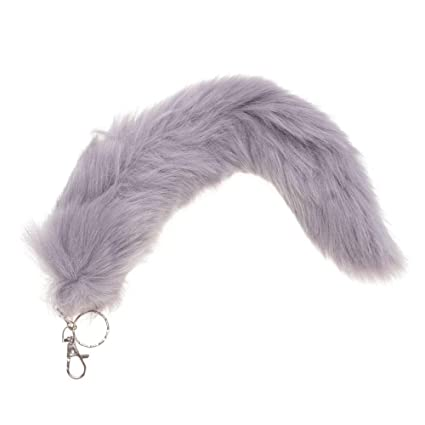Bolsa de cola de zorro artificial colgante monocromo cola de ...