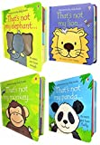 Toddlers Animals Collection Usborne Touchy-Feely 4 Books Set (Thats Not My Panda, Thats Not My Lion, Thats Not My Monkey, Thats Not My Elephant)