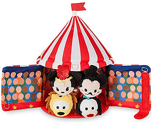 "(Disney Store Mickey Mouse Circus Tent Plush and 4 Micro 2.5"" Tsum Tsums Set)"