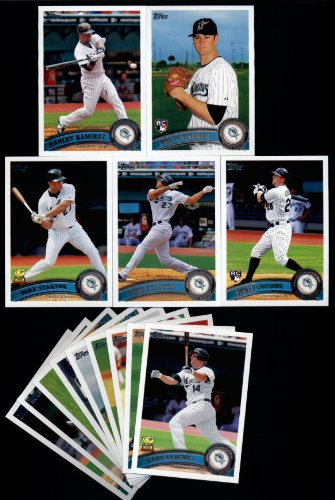 2011 Topps Florida Marlins Complete Series 1 & 2 Team Set / 21 Cards including 2 Mike Stanton, Hanley Ramirez, Sinkbeil RC, Cousins RC, Logan Morrison & ()