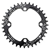 CYSKY Narrow Wide Chainring 104BCD 36T 4 Bolts Bike Single Chainring for 9 10 11 Speed, Perfect for Most Bicycle Road Bike Mountain Bike BMX MTB Fixie Track Fixed-Gear Bicycle (Round, Black)