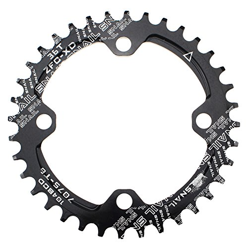 - CYSKY Narrow Wide Chainring 104BCD 36T 4 Bolts Bike Single Chainring for 9 10 11 Speed, Perfect for Most Bicycle Road Bike Mountain Bike BMX MTB Fixie Track Fixed-Gear Bicycle (Round, Black)
