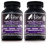 The Mane Choice MANETABOLISM Plus Healthy Hair Growth Vitamins – Complete Nutrition Supplements for Longer, Thicker and Healthier Hair (60 Capsules – Pack of Two)