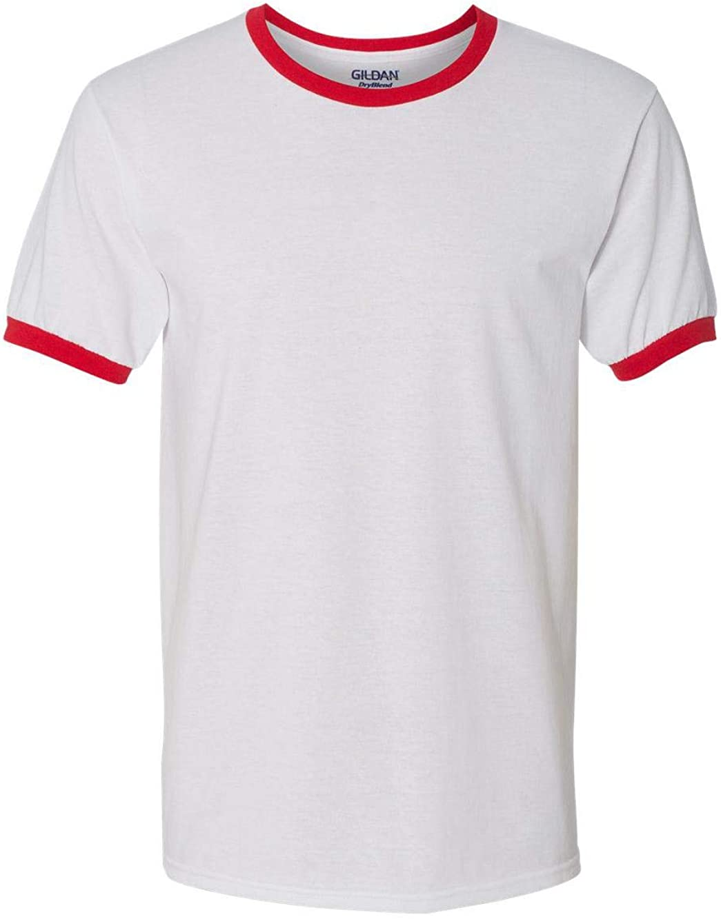 Gildan Men's DryBlend Preshrunk Contrast Neck T-Shirt