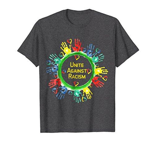 acism T Shirt | Anti Trump & No Racism 2XL Dark Heather ()