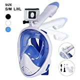 Unigear 180° Full Face Snorkel Mask -Panoramic View with Detachable for GoPro Mount and Earplug