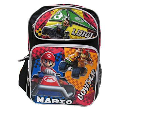 """Price comparison product image Super Mario Luigi Bowser 16"""" inches Backpack BRAND NEW - Licensed Product"""