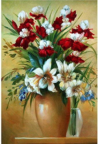 Colorful Flowers 5D Diy Diamond Painting Kits Full Drill Paint with Diamonds Kits 7.9 X 9.8 Inches