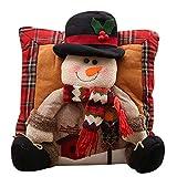 Fheaven (TM) Christmas Pillow Christmas Decorations Santa Claus Snowman Family Christmas Legged Pillow (A)
