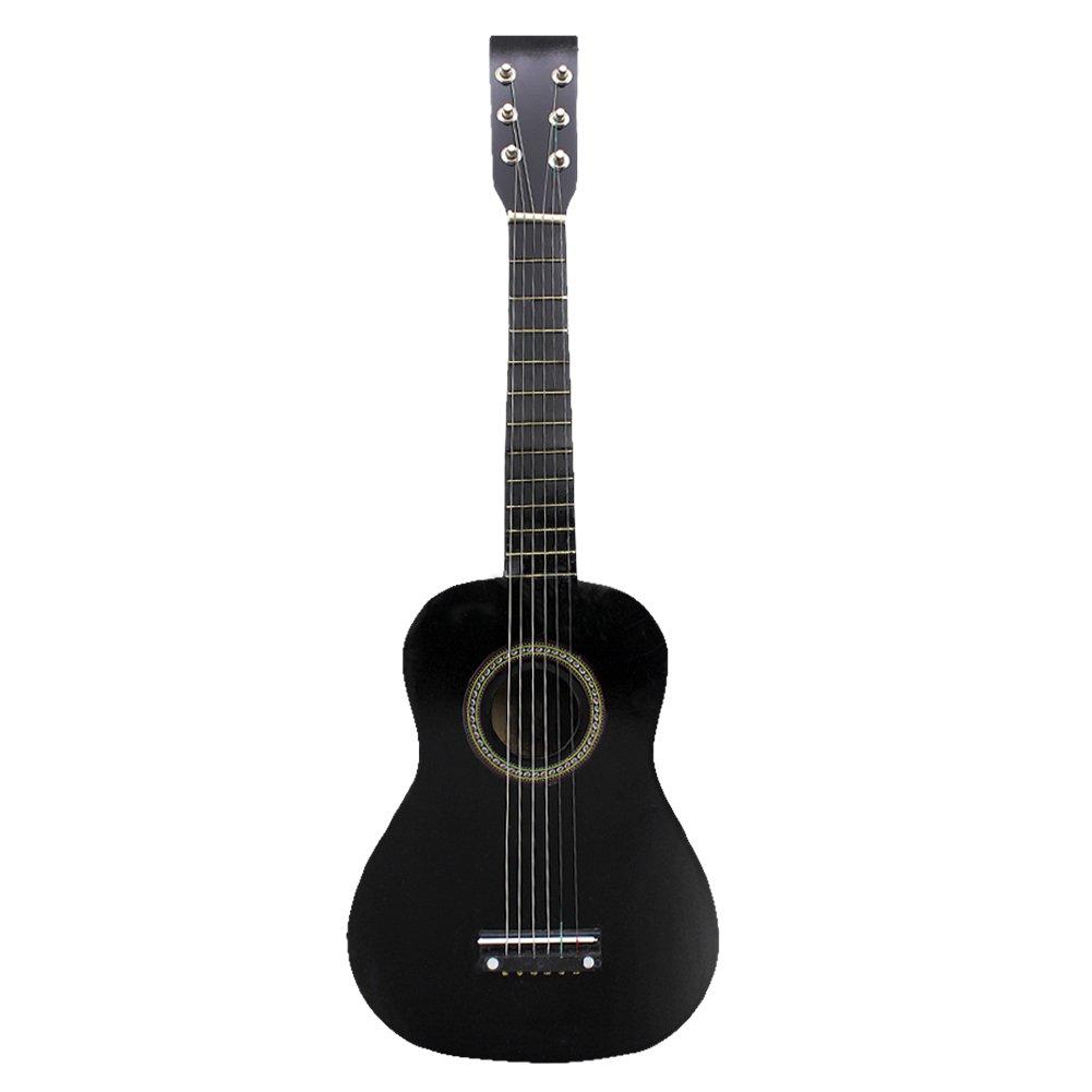 23 Inch Guitar for Kids, Basswood Mini Guitar Kids Musical Instrument Toy for Beginner(Black)
