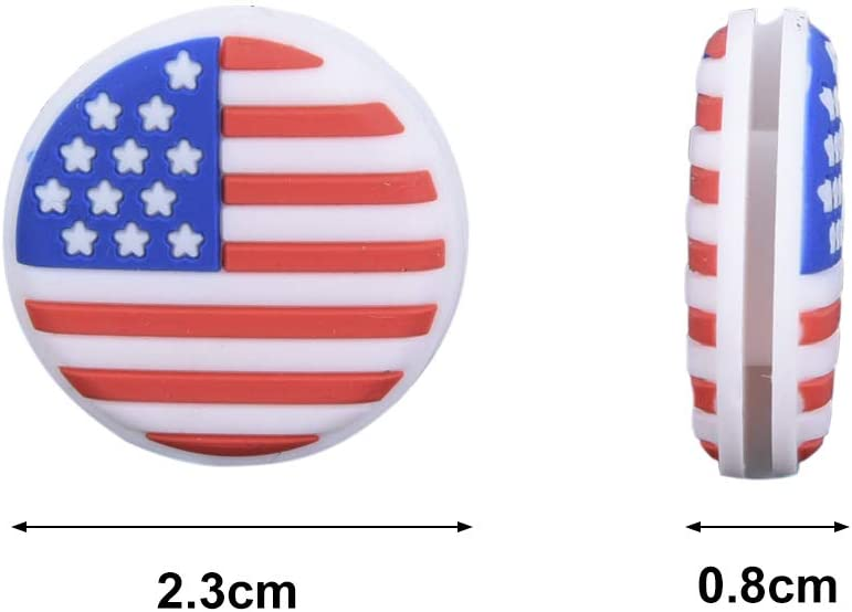 DALU.A.F Tennis Vibration Dampener - 6 Pack American Flag Tennis Shock Absorbers for Tennis Racket Strings, Best for Tennis Racquet, Durable & Long-Lasting, Great for Tennis Players, Sold : Sports & Outdoors