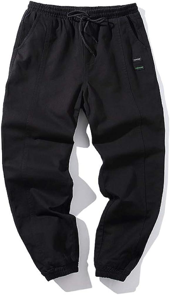 Pantalones para Hombre Pantalones Deportivos de cordón de Color sólido con cordón Informalpara Entrenamientos yPantalones Deportivos de CorteSlim
