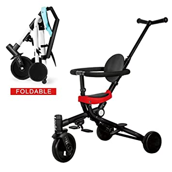Amazon.com: Vuffuw - Triciclo 2 en 1 para niños, carrito de ...