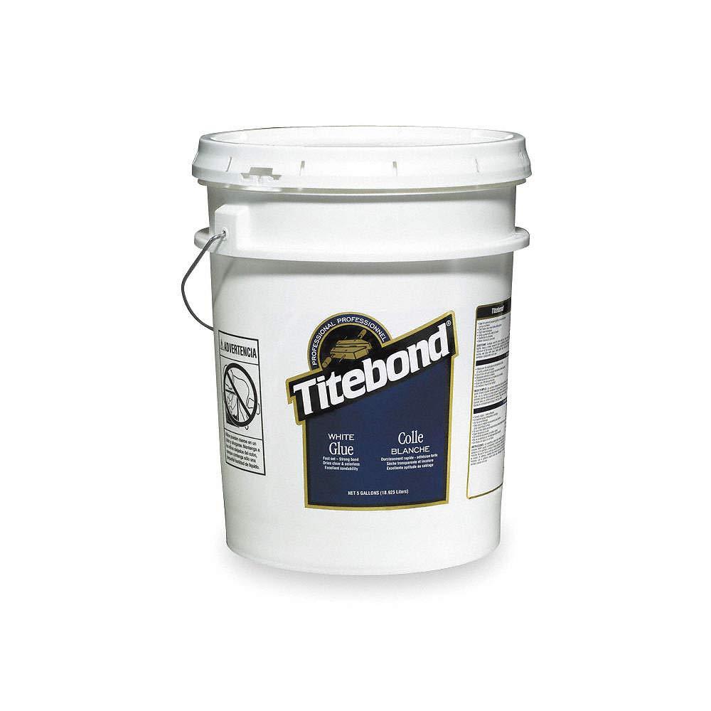 Wood Glue, 640.00 oz. Pail, White, 1 EA