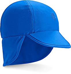 Coolibar UPF 50+ Baby Splashy All Sport Hat - Sun Protective (12-24 Month - Blue Wave)
