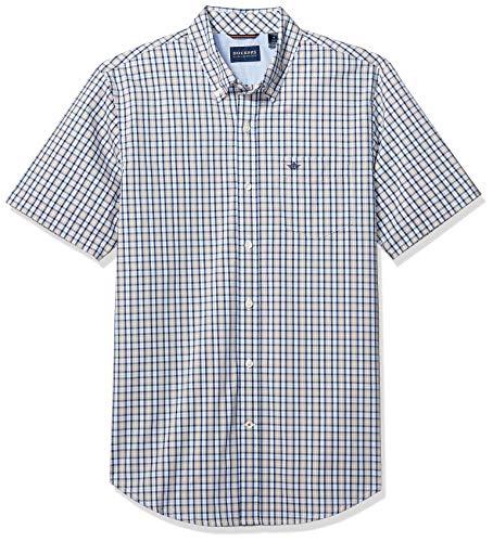 (Dockers Men's Short Sleeve Button Down Comfort Flex Shirt, Riggin Safari Beige, L )