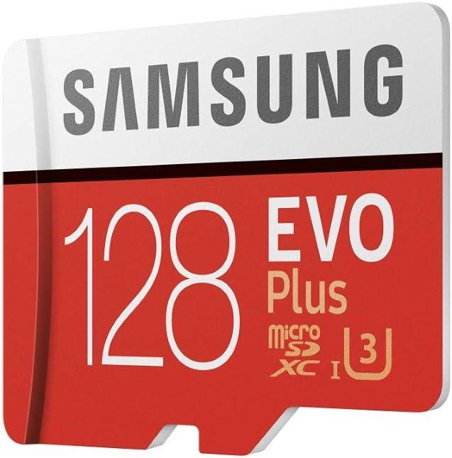 Samsung EVO Plus - Tarjeta de Memoria de 128 GB con Adaptador SD (100 MB/s, U3) Rojo/Blanco: Samsung: Amazon.es: Informática