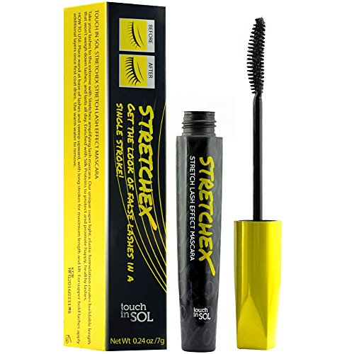 TOUCH IN SOL STRETCHEX Stretch Lash Effect Mascara - Healthy Looking Extreme Long Lashes, Wash off with Warm Water best to buy