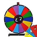 NEW LEAF 24'' Tabletop Color Dry Erase Spinning Prize Wheel 14 Slot