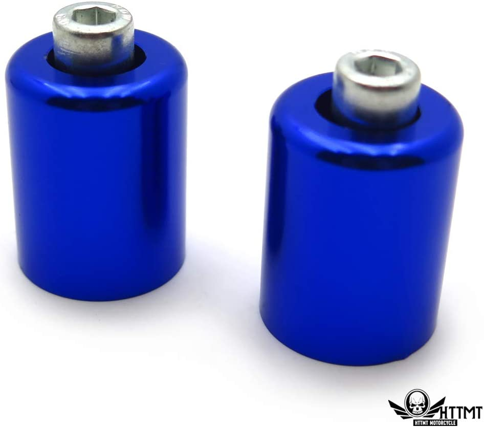 HTTMT- USMT220-009-BLUE-NOLOGO- Blue Bar Ends Compatible With Kawasaki Ninja 250 500 Zx600 Zx6 636 Zzr600 Zx6R Zx6Rr NOLOGO