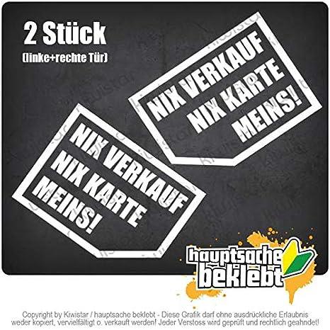 Kiwistar Nix Nix Karte Meins 10x 7 Cm In 15 Farben Neon Chrom Sticker Aufkleber