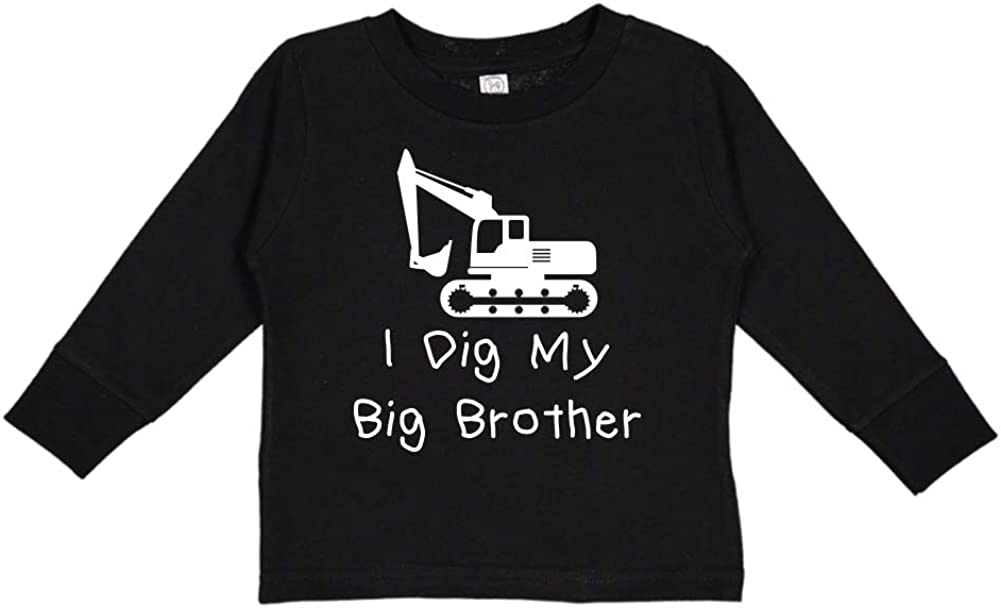 I Dig My Big Brother Toddler//Kids Long Sleeve T-Shirt