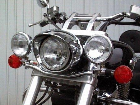Fehling: ライトバー 後付ヘッドライト用 for Honda VTX 1800 B0063PG2NU