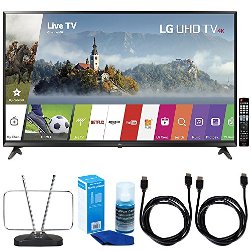 LG 65UJ6300-65 Super UHD 4K HDR Smart LED TV  w/TV Cut The C