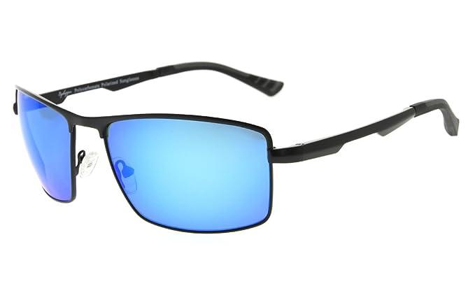 01a4e0cb8d1 Eyekepper Mens Polycarbonate Lens Polarized Sunglasses With Metal Frame  Spring Hinges