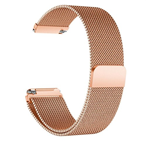 Price comparison product image Watch Band,  Boofab Luxury Stainless Steel Magnetic Closure Lock Milanese Loop Bracelet Watch Band 5.70-8.07Inches (B)