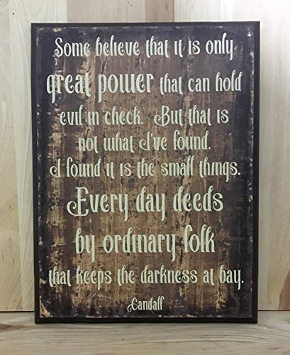 Olga212Patrick Gandalf Wood Plaque Sign Quote J R R Tolkien Wood Plaque Sign with Saying Inspirational Quote Custom Wood Plaque Sign Inspirational Wall Art