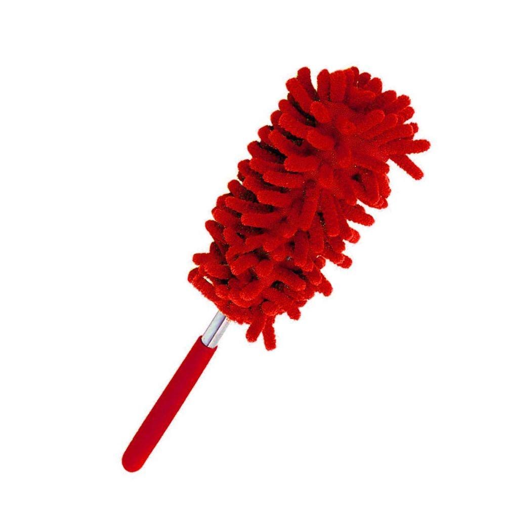 Godagoda 1Pcs Microfiber Duster Retractable Long-Reach Washable Dusting Brush with Telescoping Pole for Home Office
