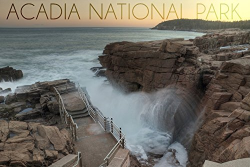 (Acadia National Park, Maine - Thunder Hole (12x18 Art Print, Wall Decor Travel Poster))