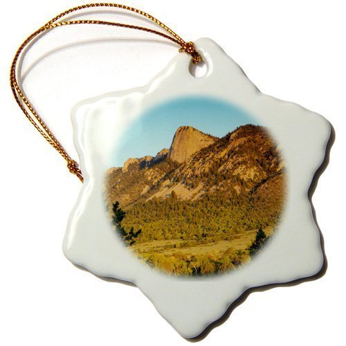 (Tim Christmas Decorations Tooth of Time Philmont Scout Ranch Cimarron New Mexico Porcelain Snowflake Ornament Craft Crafts Xmas Tree Hanging)