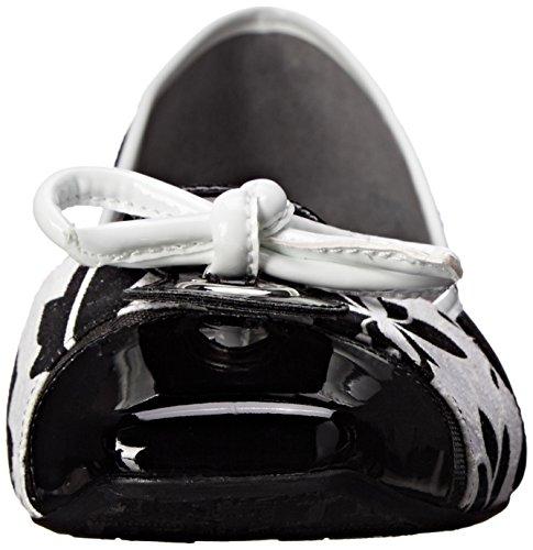 White US Multi Ballet Black Floral 8 Flat Gold Edie J N Renee Women's qzfPaP