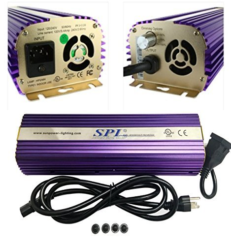 SPL Horticulture STB 1000 Hydroponic 400w Watt HPS Mh Digital Dimmable Electronic Ballast for Grow Light Bulb Lamp