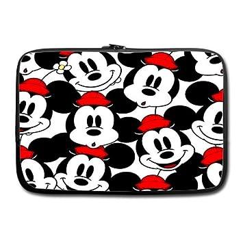 Custom Mickey Mouse cabeza 15 pulgadas portátil/ordenador portátil funda blanda para portátil doble lados: Amazon.es: Electrónica