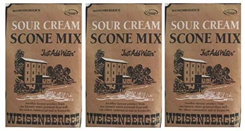 Weisenberger Mills Sour Cream Scone Mix- A Ky Proud Product 8 Oz Ea 3 (Sour Cream Muffins)