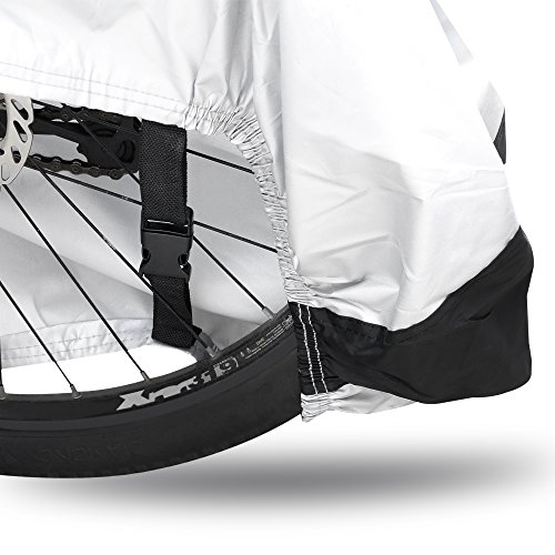 IPOW 210D Thicken Oxford Fabric Waterproof Snowproof UV Protective Cycle Bike Bicycle Cover with Bag Best for Mountain Road Electric and Cruiser Bikes by IPOW (Image #2)