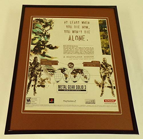 Advertisement Metal (Metal Gear Solid 3 Subsistence PS2 Framed 11x14 ORIGINAL Vintage Advertisement)