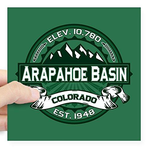 CafePress - Arapahoe Basin Forest Square Sticker 3