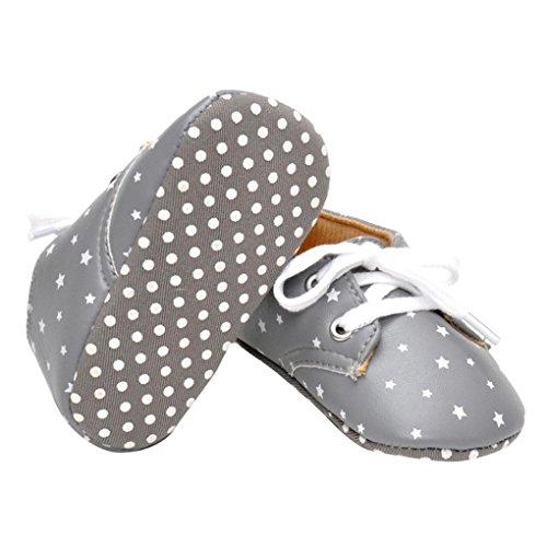 Saingace Impression étoile Bébé Chaussures Chaussures à Semelle Souple (12(12.5cm/6-12mois))