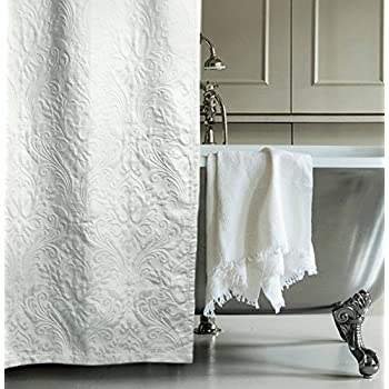 Amazon.com: Matelasse Luxury Shower Curtain by Hotel Collection 100 ...