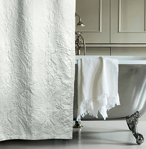 Matelasse Luxury Shower Curtain by Hotel Collection 100-p...