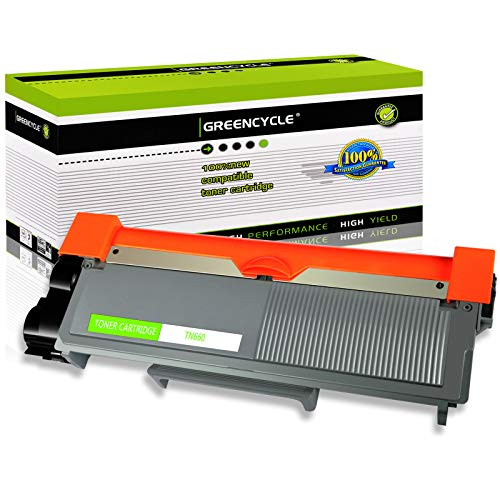 GREENCYCLE 2600 Pages per Toner Cartridge Replacement Compatible for Brother TN660 TN-660 Used in DCP-L2520DW DCP-L2540DW HL-L2380DW MFC-L2685DW MFC-L2740DW (Black, 1-Pack) -  GREENCYCLE TECH INC, M-TN660-1PK-0113