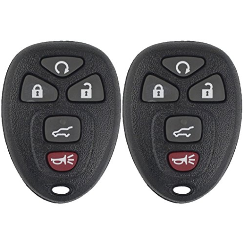 Keyless2Go Keyless Entry Car Key Replacement for Vehicles That Use 5 Button 15913415 OUC60270 OUC60221, Self-programming - 2 Pack (2008 Chevy Tahoe For Sale By Owner)