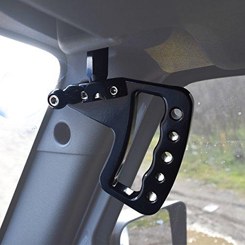 NEW Aluminum Grab Handle for Jeep Wrangler JK 07-17 2/4 Door – Pair (Front Black)