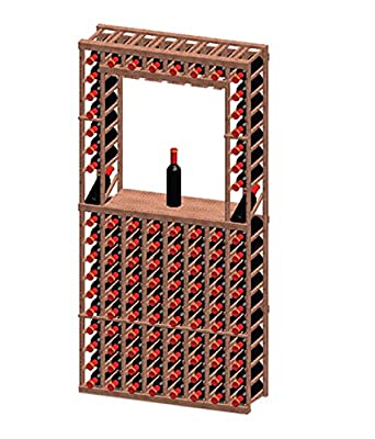 8-Column/Decanter Wine Rack with Display Row Home Kitchen Furniture Decor