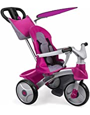 FEBER Evoluton Pink Baby Trike Easy Evolution, Triciclo, Color Rosa, 79.0 x 63.0 x 42.4 (Famosa 800009561)