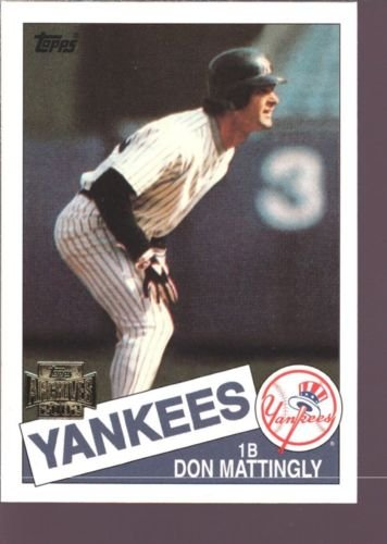DON MATTINGLY 2002 ARCHIVES 1985 TOPPS #665 MINT SP NEW YORK NY YANKEES DODGERS